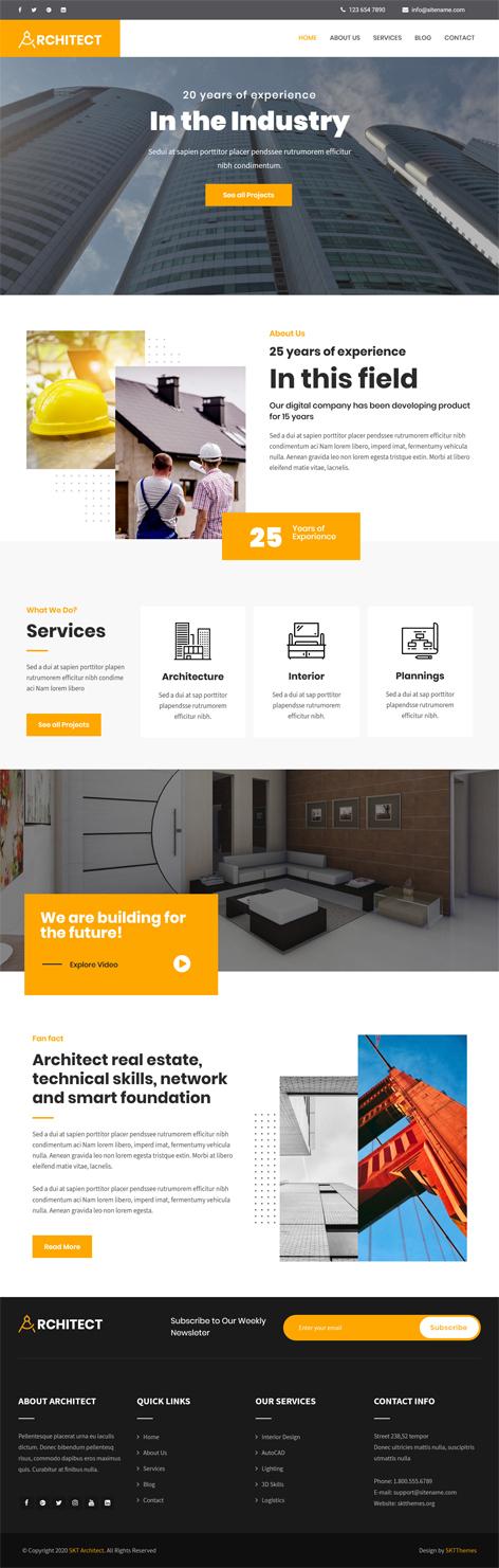 free architect WordPress theme