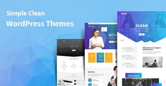 simple clean WordPress themes
