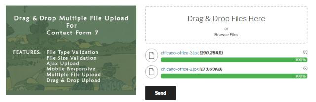 Drag and Drop Multiple File Upload