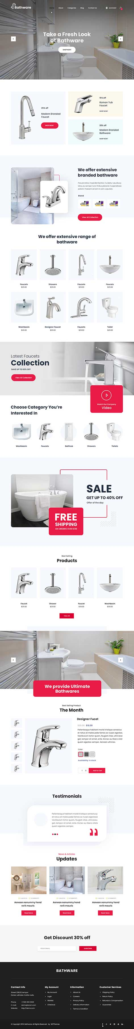 bathroom WordPress theme