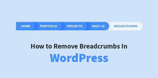 remove Breadcrumbs in WordPress