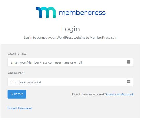 MemberPress account