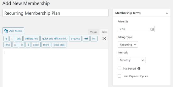 MemberPress new member details