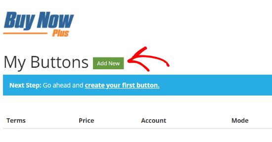 Stripe Add New Button
