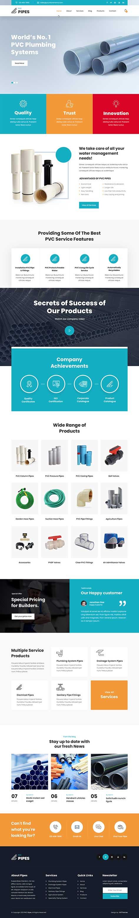 plumbing store WordPress theme