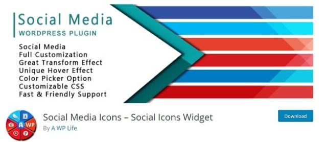 Social Media Icons By A WP Life