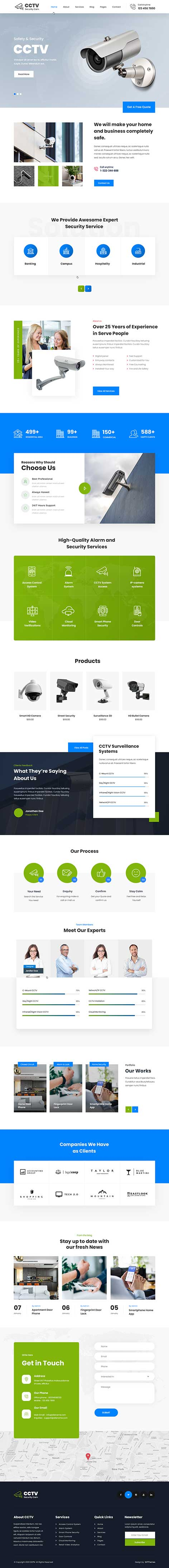 CCTV WordPress theme