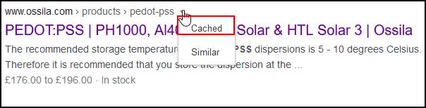 select cache
