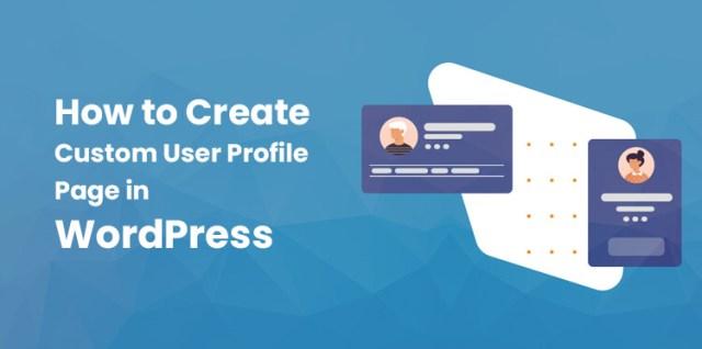 WordPress custom user profile page