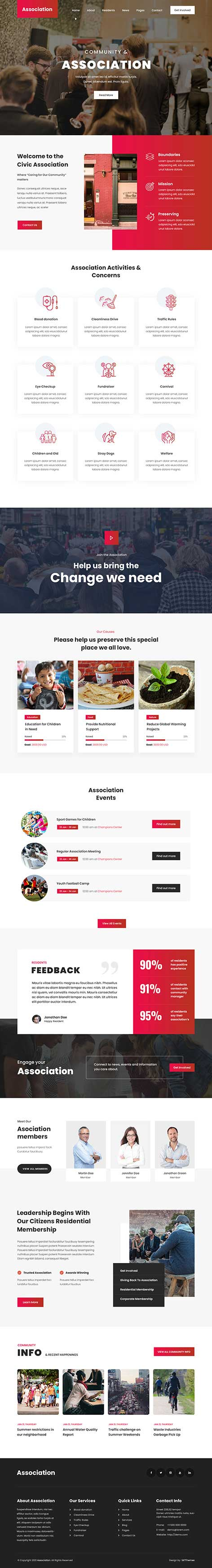 association WordPress theme