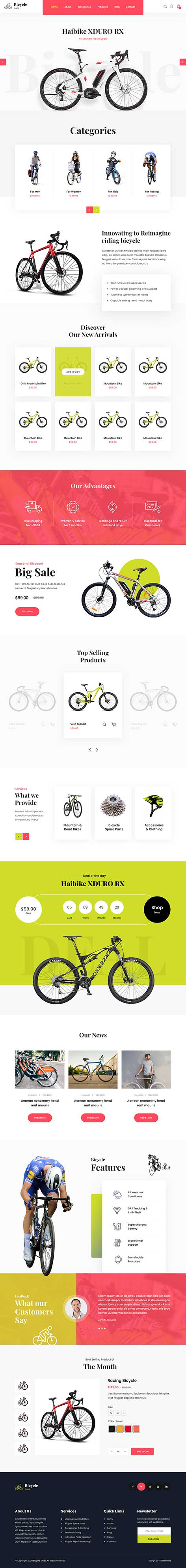 cycling WordPress theme