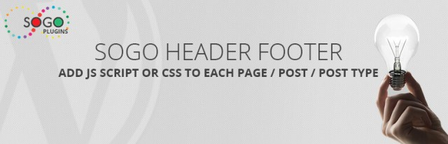 SOGO Add Script to Individual Pages Header Footer