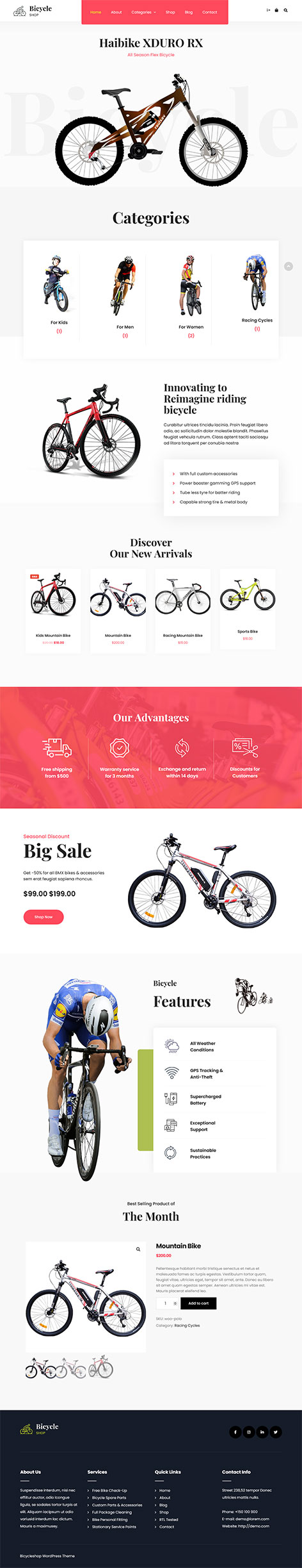 free cycling club WordPress theme