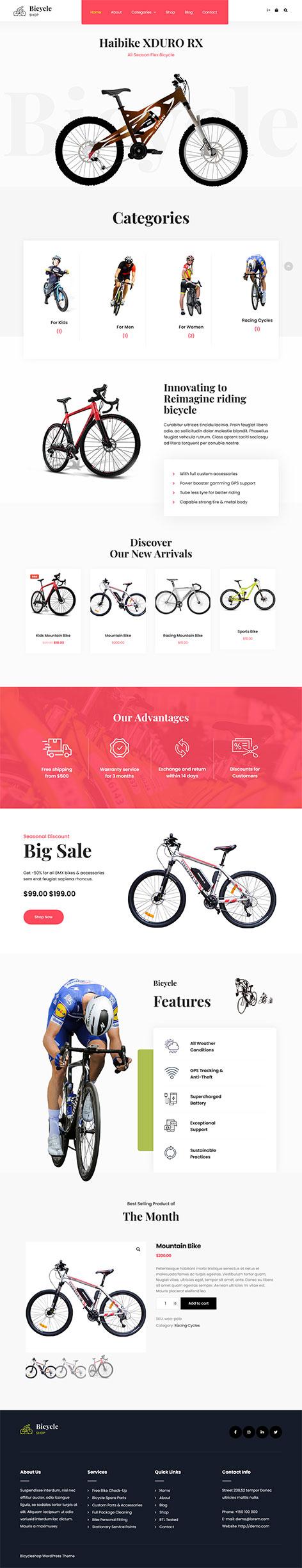 free cycling club WordPress theme