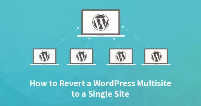 WordPress multisite to a single site