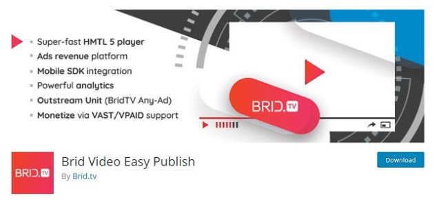 Brid Video Easy Publish