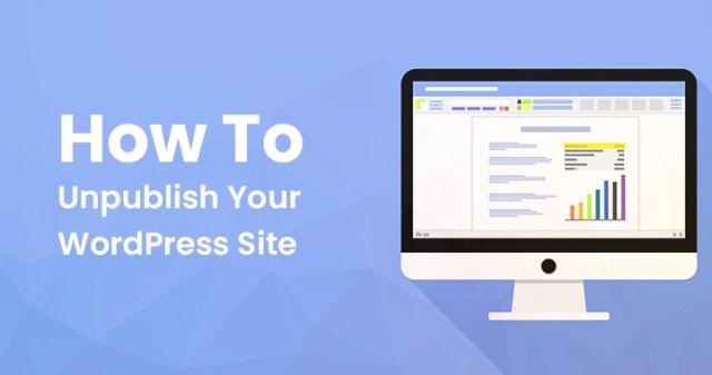 Unpublish WordPress site