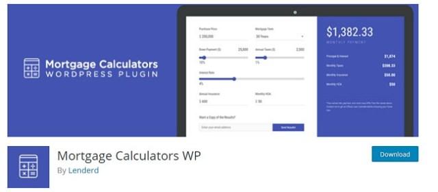 Mortgage Calculators WP