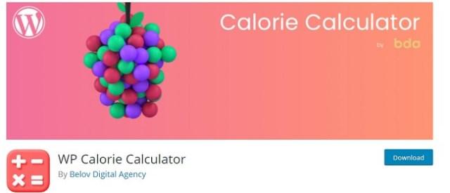 WP Calorie Calculator