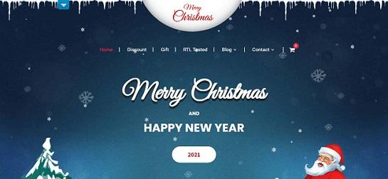 christmas wordpress theme