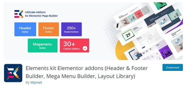 elements header and footer by Wpmet