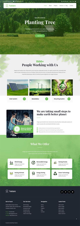 free green earth WordPress theme