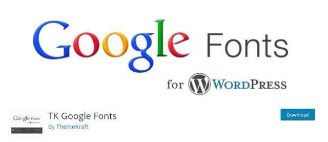 tK Google fonts