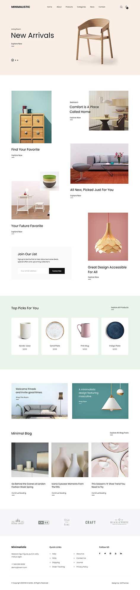 minimal shop WordPress theme