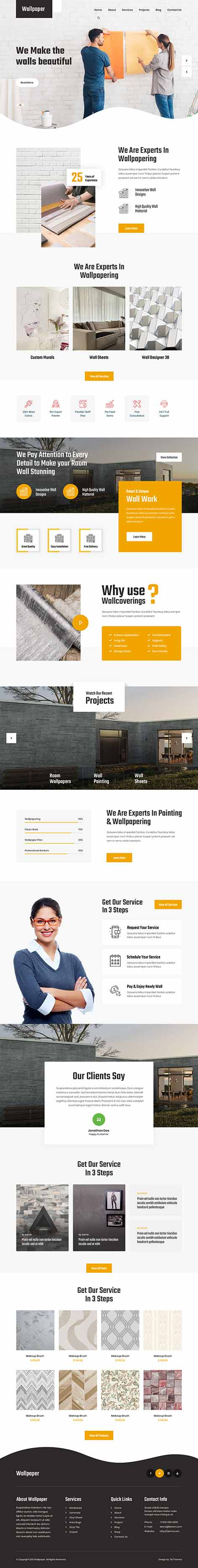 wallpaper design WordPress theme