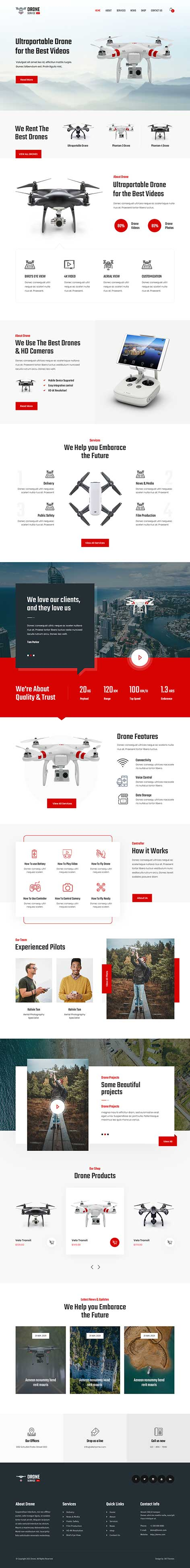 drone service WordPress theme