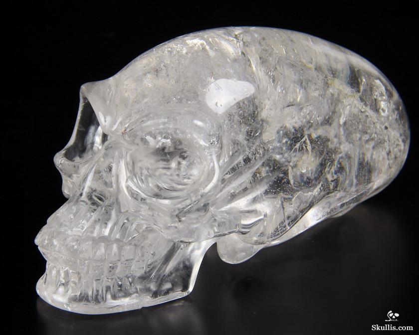 Huge 44 Quartz Rock Crystal Carved Elongated Mayan Alien