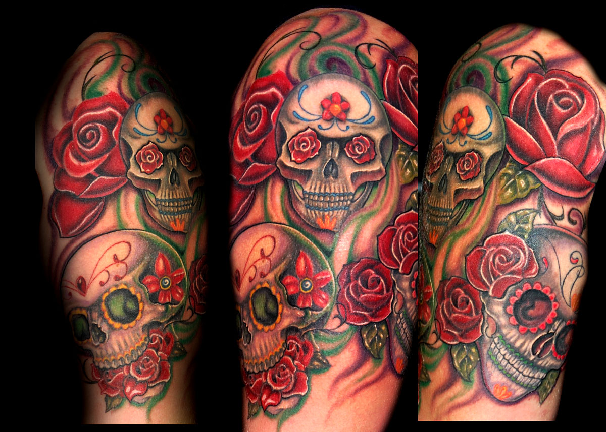 25 sugar skull tattoo