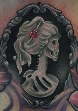20 Skull Cameo Tattoo Designs