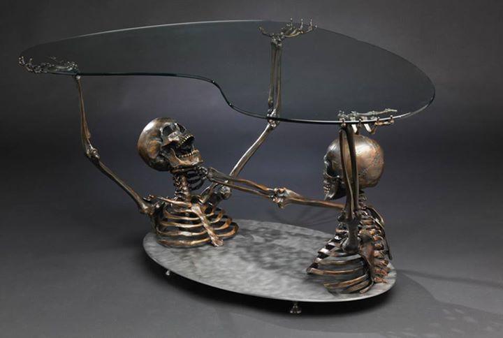 skeleton coffee table