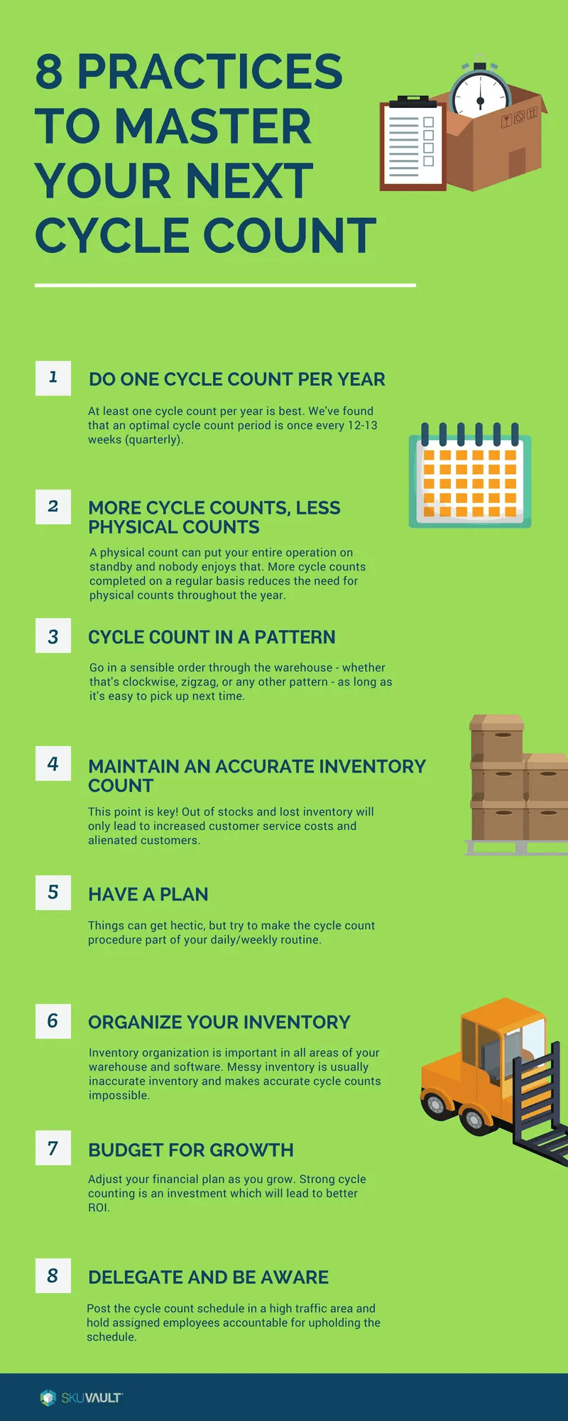 8 Practices To Master Your Next Cycle Count