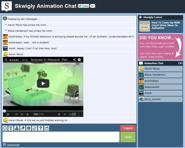 You can now embed videos and showreels and share them with the room