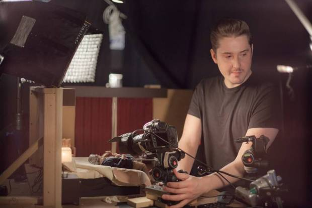 Director & Producer Duke Johnson on the set of the animated stop-motion film, ANOMALISA, by Paramount Pictures