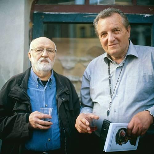 Jan Švankmajer with his lifelong friend and producer Jaromír Kallista (©Athanor)