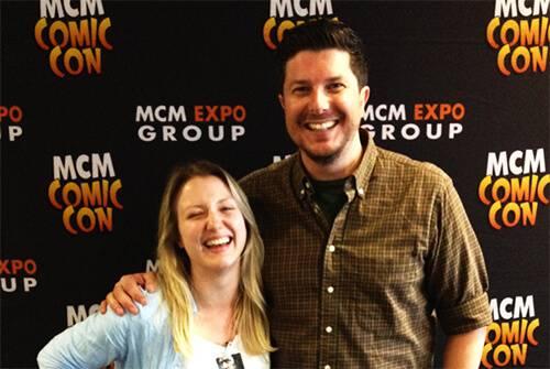 Sophie Dutton & Kent Osborne at London MCM Comic Con