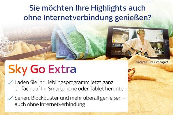 Sky Go Extra Werbung