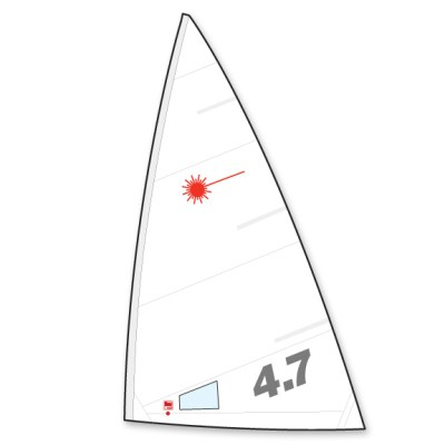 4.7 Laser Sail Folded (Hyde)