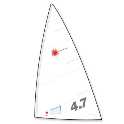 Laser 4.7 Sail Folded