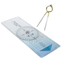 "Blundell Harling Portland Course Plotter Kit With 7"" Divider"