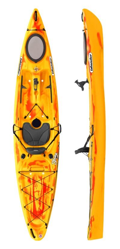 Islander Strike Kayak - Saffron/Red