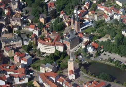 Rote Spitzen in Altenburg