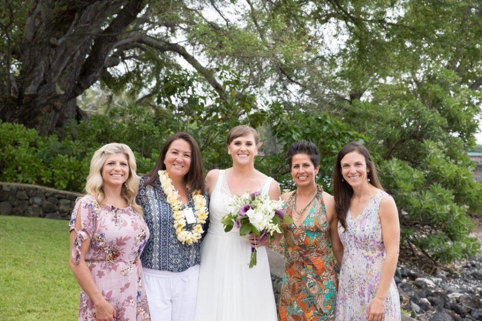 bridesmaids Kealakekua Bay Wedding