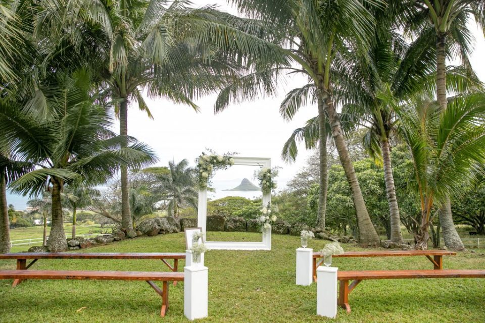 Paliku Gardens Kualoa Ranch Wedding