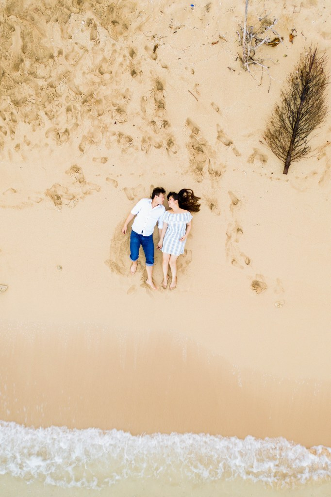 Kualoa drone engagement photos