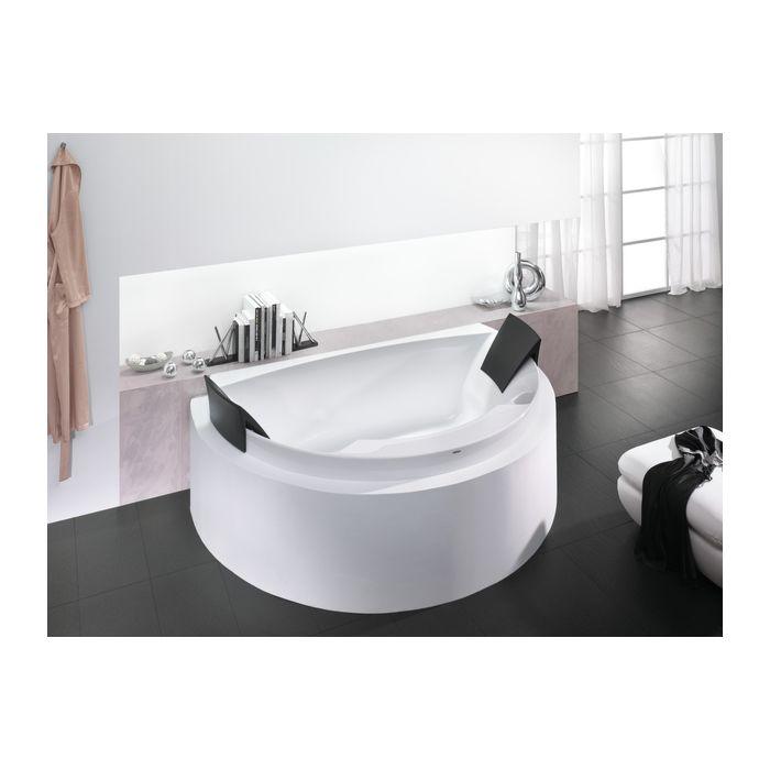 Hoesch Aviva Baignoire 6618 010 180x118 5 Cm Blanc Semi Circulaire