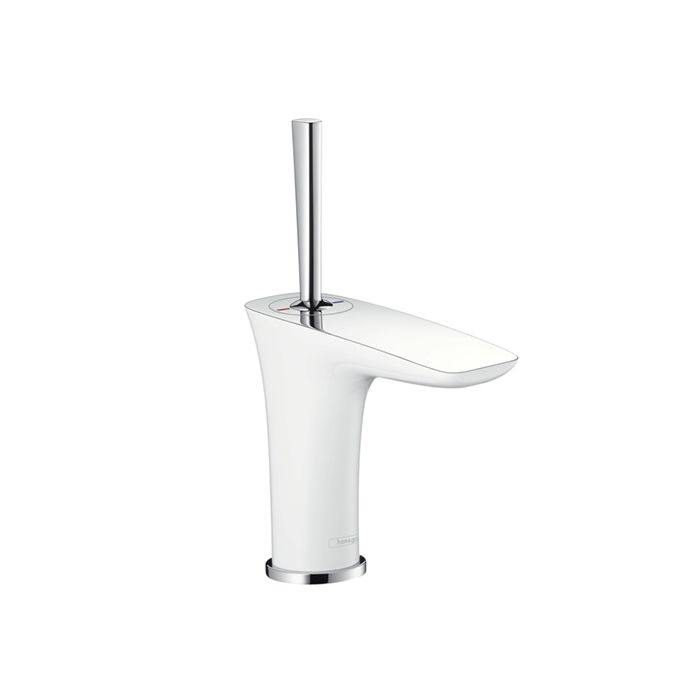 hansgrohe cloakroom basin fitting puravida 1507540 white chrome push open 2000 2000 4